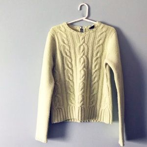 GAP Cable Knit Wool Angora and Cashmere Sweater